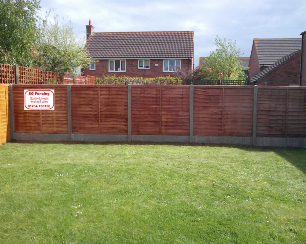 SG Fencing and gates Bedford, showcase image as featured on the website homepage