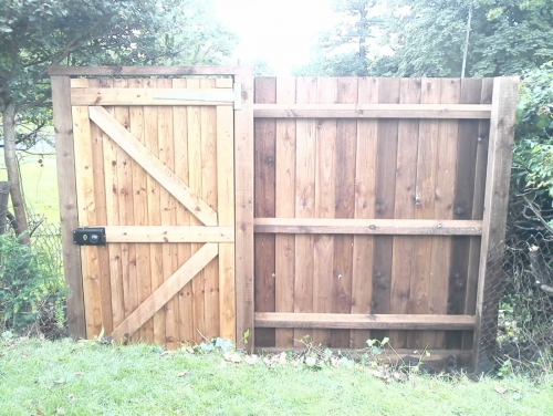 Field Gate with fence panel